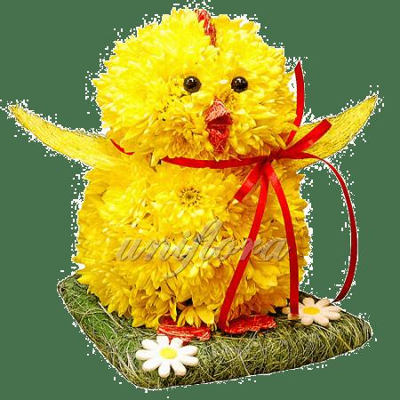 Композиция из желтых хризантем