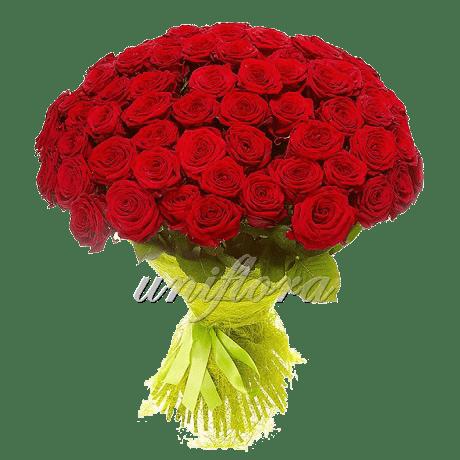 Букет импортных красных роз Ред Наоми 101-22-1-1-1-1