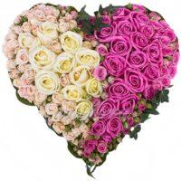 """Композиция из роз """"Поражен в самое сердце"""""""