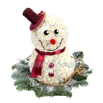 """Композиция """"Новогодний снеговик"""""""
