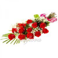 Букет из 13 красных роз (импорт)