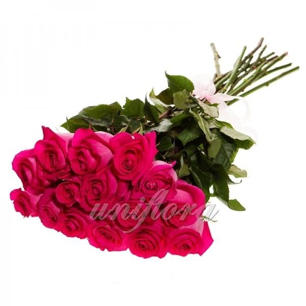 Букет из 15 розовых роз (импорт)