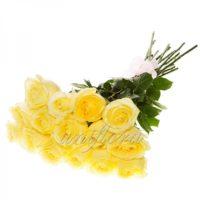 Букет из 15 желтых роз (импорт)