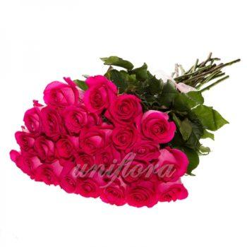 Букет из 25 розовых роз (импорт)