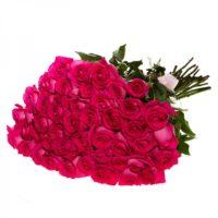 Букет из 49 розовых роз (импорт)