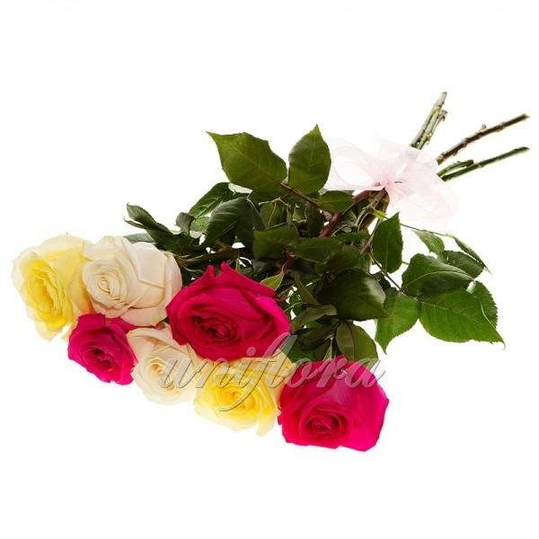 "Букет ""микс"" из 7 роз (импорт)"
