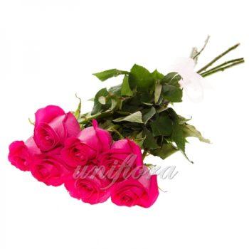 Букет из 7 розовых роз (импорт)