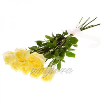 Букет из 7 желтых роз (импорт)