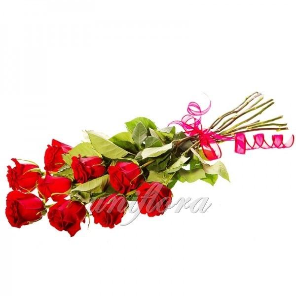 Букет из 9 красных роз (импорт)