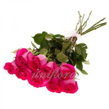 Букет из 9 розовых роз (импорт)
