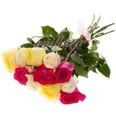 "Букет ""микс"" из 11 роз (импорт)"