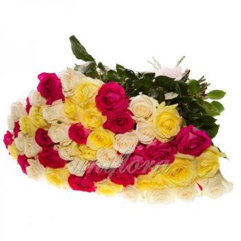 "Букет цветов ""Микс"" из 49 роз (импорт)"