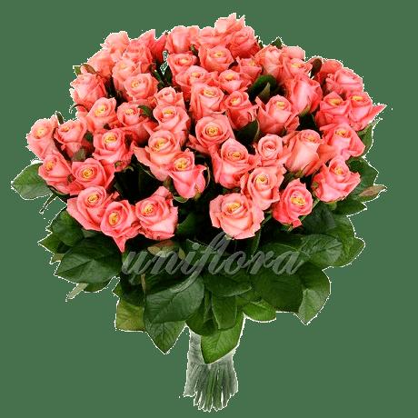 Букет из 85 персиковых роз | Мисс Пигги (укр)