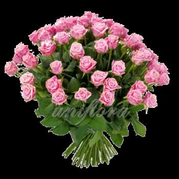 Букет из 65 розовых роз | Аква (укр)