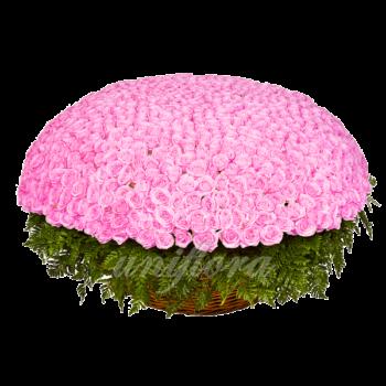 Букет из 1001 розовой розы | Аква (укр)
