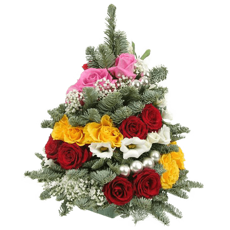 Елочка с розами