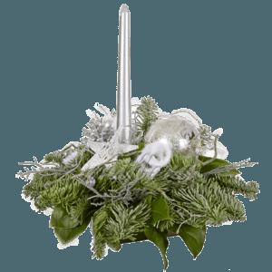 Новогодний огонек серебряный