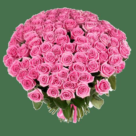 Букет из 101 розовой розы | Аква (укр)