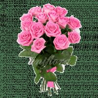 Букет из 15 розовых роз | Аква (укр)