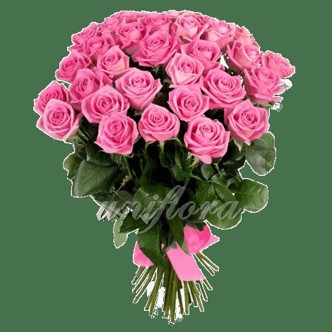 Букет из 35 розовых роз | Аква (укр)