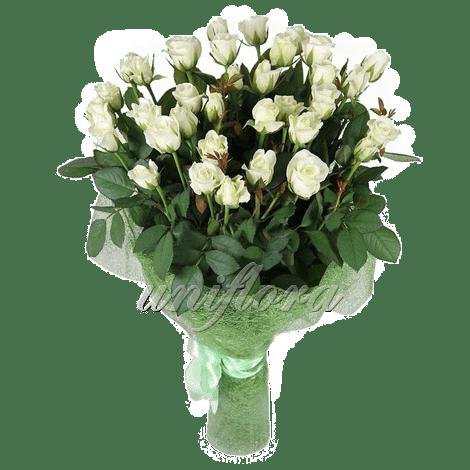 Букет из 45 белых роз   Акито (укр)