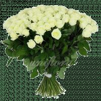 Букет из 101 белой розы | Мондиаль (импорт)