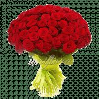 Букет из 101 красной розы | Ред Наоми (импорт)
