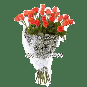 Букет из 25 оранжевых роз | Вау (укр)