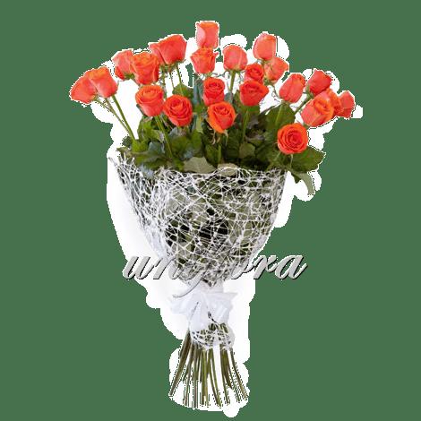Букет из 25 оранжевых роз   Вау (укр)
