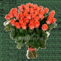 Букет из 51 оранжевой розы | Вау (укр)