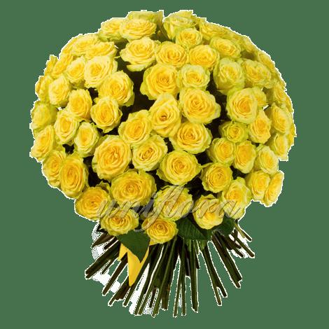 Букет из 101 желтой розы | Илиос (укр)