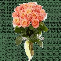 Букет из 25 персиковых роз | Мисс Пигги (укр)
