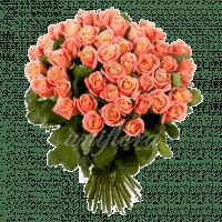 Букет из 51 персиковой розы | Мисс Пигги (укр)