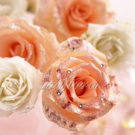 Розы со стразами