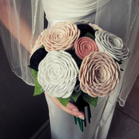 Свадебный букет из текстиля