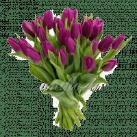 Букет тюльпанов фиолетовых