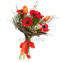 Каркас анемоны тюльпаны гениста весенняя зелень каркас-2
