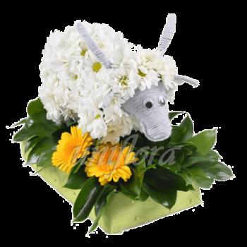Козочка из цветов по Вашему эскизу