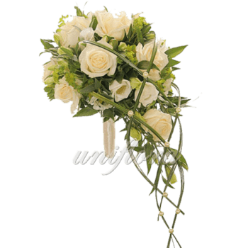 Каскадный свадебный букет