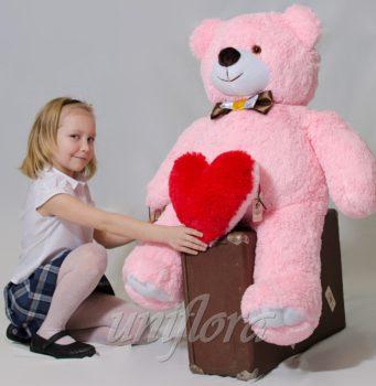 Плюшевый мишка 110 см. (розовый)